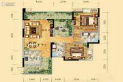 祥和御馨园二期2室2厅2卫106平方米户型图