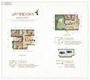 大同江鸿・铂蓝原著4室3厅5卫265平方米户型图