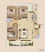 皓顺・华悦城3室2厅2卫122平方米户型图