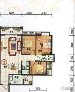 府前雅居苑3室2厅2卫112平方米户型图