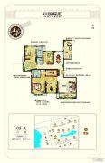 茂华国际汇4室2厅3卫208平方米户型图