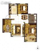 大成门3室2厅1卫107平方米户型图