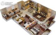 白桦林・印象3室2厅2卫135平方米户型图
