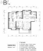 万科里金域国际4室2厅2卫121平方米户型图