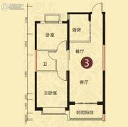 恒大山水城2室2厅1卫89平方米户型图
