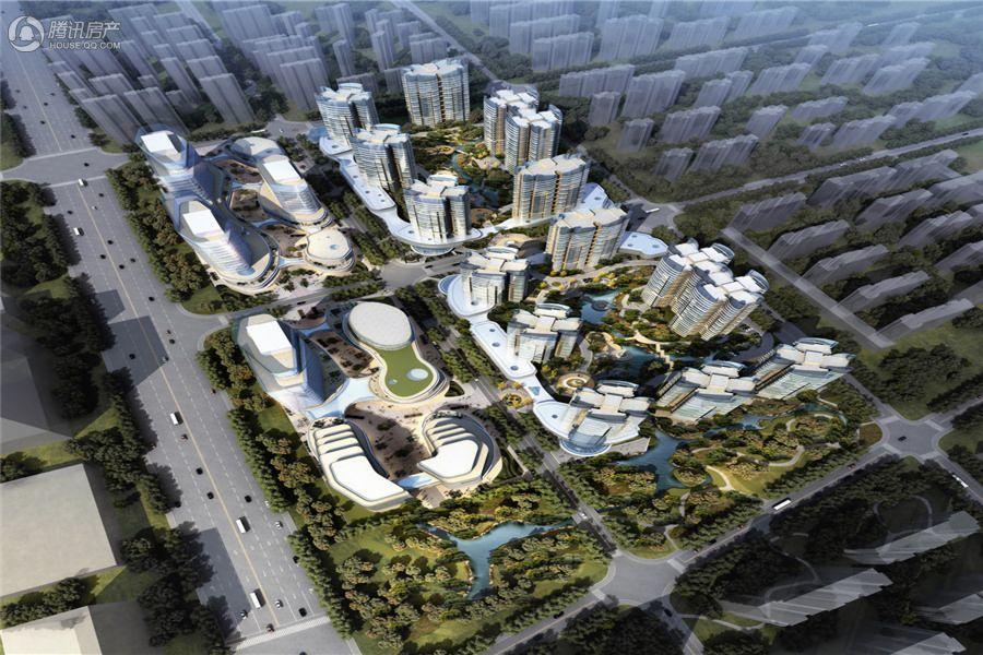 北京城建龙樾熙城鸟瞰日景