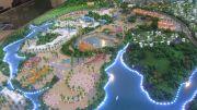桂林罗山湖国际旅游休闲度假区沙盘图