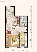 哥本哈根1室1厅1卫50平方米户型图
