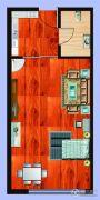 尚元公馆1室1厅1卫46平方米户型图