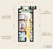 HOLI公馆1室1厅1卫54平方米户型图