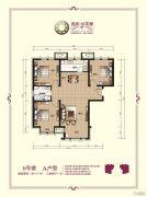 香邑拉菲堡3室2厅1卫117平方米户型图