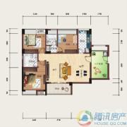 泰然南湖玫瑰湾2室2厅2卫114平方米户型图