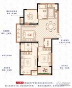 绿洲白马公馆3室2厅2卫114平方米户型图
