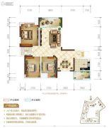 置地城3室2厅2卫85平方米户型图