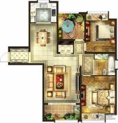 华润国际社区2室2厅1卫118平方米户型图