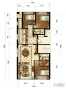 中海枫丹公馆3室2厅2卫160平方米户型图