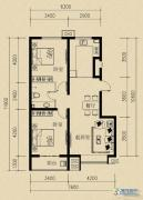 燕赵国际2室2厅1卫88平方米户型图