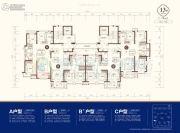 东部美的城3室2厅2卫108--123平方米户型图