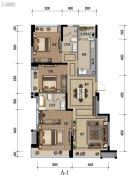 九龙仓时代小镇1号府邸3室2厅2卫115平方米户型图