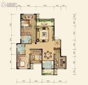 约克郡北区4室2厅2卫0平方米户型图