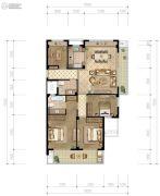 香格里拉4室2厅2卫122平方米户型图