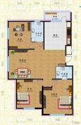 黎明荣府3室1厅2卫127平方米户型图