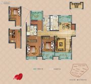 弘阳上湖3室2厅2卫123平方米户型图