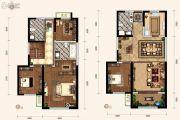 天朗蔚蓝东庭4室2厅3卫117平方米户型图