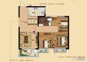 恒大帝景(备案名:聚亨景园)3室2厅1卫96平方米户型图