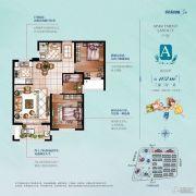 保利城3室2厅1卫0平方米户型图