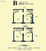 万达城2室1厅2卫0平方米户型图
