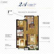 万科如园2室2厅1卫85平方米户型图