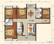 城中半岛3室2厅2卫129平方米户型图