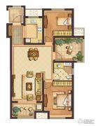 公元壹号3室2厅1卫97平方米户型图