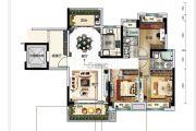 碧桂园翡翠华庭3室2厅2卫118平方米户型图