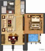 华府天地・紫泉宫1室1厅1卫70平方米户型图