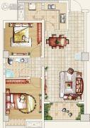 文杰莱茵广场2室2厅1卫74--82平方米户型图