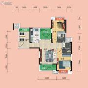 广电兰亭时代3室2厅1卫96平方米户型图