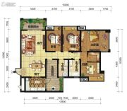 中交锦湾一期4室2厅2卫142平方米户型图