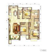 新城香溢紫郡4室2厅2卫120平方米户型图