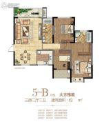 府东公馆3室2厅2卫138平方米户型图