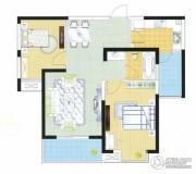 富城湾2室2厅1卫89平方米户型图