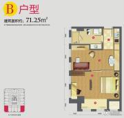 外滩梅园0室0厅0卫71平方米户型图