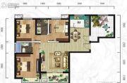 紫韵东城3室2厅1卫116平方米户型图