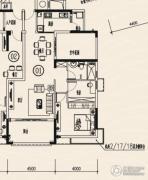 龙光棕榈水岸2室2厅1卫95平方米户型图