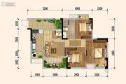 佳兆业广场3室2厅1卫81平方米户型图
