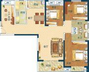 深业世纪新城3室2厅2卫132平方米户型图