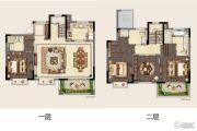 新城璞樾和山4室2厅3卫169平方米户型图