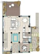 麓湖沉香谷1室2厅1卫0平方米户型图