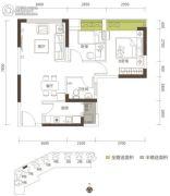 金龟山・鑫鼎园2室2厅1卫69平方米户型图